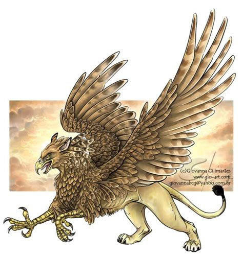 animal mitologico grifo a partir pedra o grifo