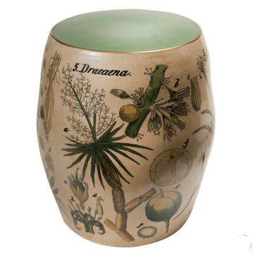 ceramic table l ceramic stool l accent table l side table l botanique