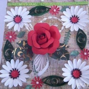 Handmade Flowers Tutorial - 7 best tutoriales filigranas images on