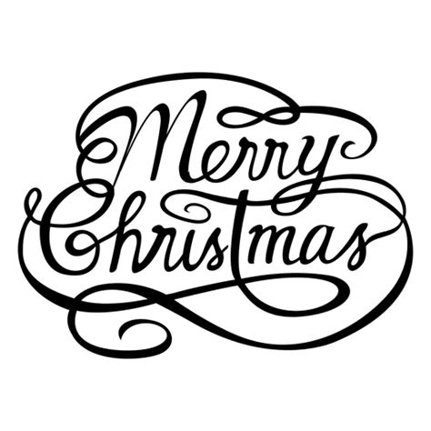 merry christmas calligraphic logo transparent png svg vector