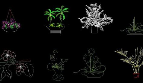 flower design in autocad decoration flowers plant front view elevation 2d dwg block