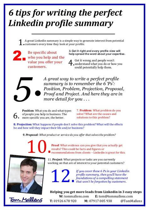 Resume Writing Tips Linkedin Tips For Writing The Linkedin Profile Summary Tom Mallens