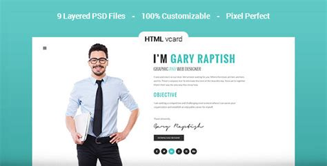 premium layers html vcard resume template raptish premium vcard resume html template by premiumlayers themeforest