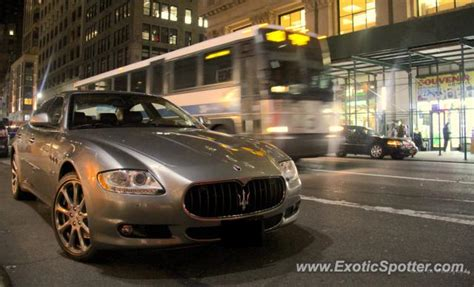 maserati quattroporte spotted in manhattan new york on 01