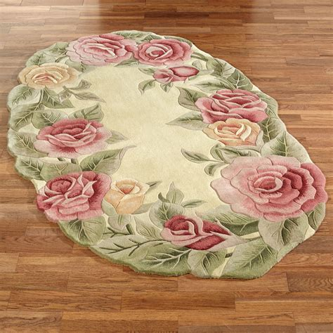 Rugs With Roses On Them roses oval rug