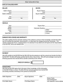 free kentucky generic bill of sale form download pdf word