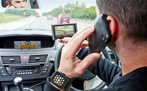 driving distractions  gadgets