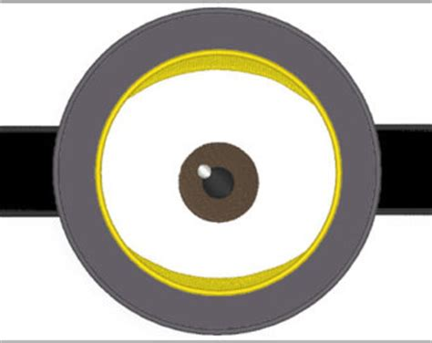 large printable minion eyes items similar to girl yellow minion with goggles made to