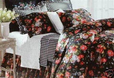 dark floral bedding ralph lauren 9 pc isadora cosette black floral queen duvet