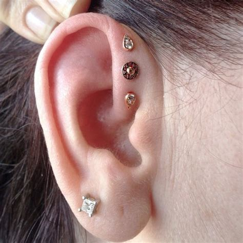 37 inner pinna piercings for
