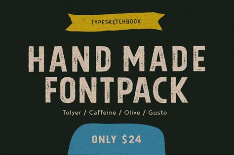 Handmade Fonts Free - last day 4 fonts from typesketchbook only