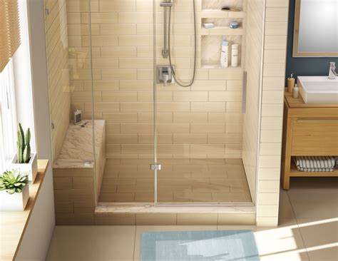 Shower Base Fall by Wonderfall Trench Shower Pan And Bench 32 X 60 Right