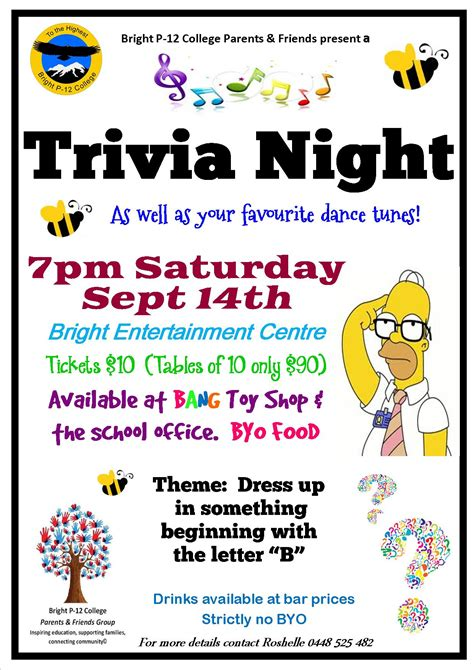 trivia flyer template free pin quiz flyer template on