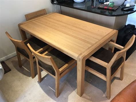 6 seat dining table and chairs habitat radius 6 seat oak dining table and 4 radius oak