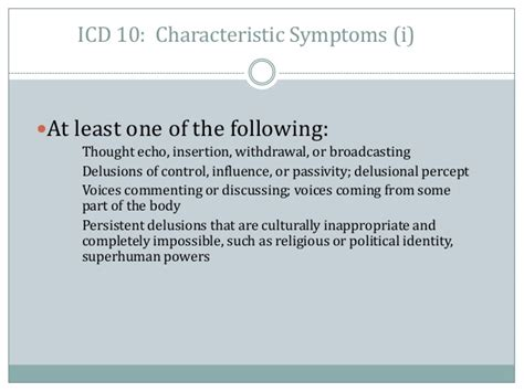 Detox Icd 10 by Schizophrenia And Primary Care