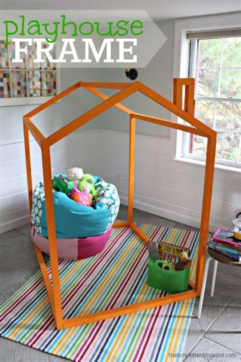 easy kids indoor playhouse make an indoor playhouse frame for the kids for just 20