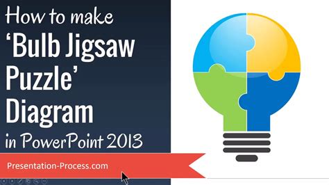How To Make Bulb Jigsaw Puzzle Diagram In Powerpoint 2013 Youtube How To Create Jigsaw Puzzle In Powerpoint