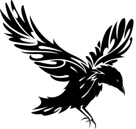 flying raven clipart clipartfest clipartbarn
