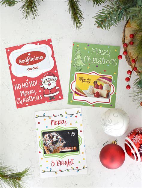 Buy Printable Gift Cards - printable christmas gift card holders fun squared