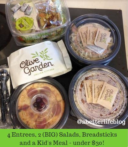 u order olive garden to go olive garden 5 meals 30 to go order ends 4 30 saving toward a better saving