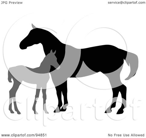 clipart mare royalty free rf clipart illustration of a silhouetted