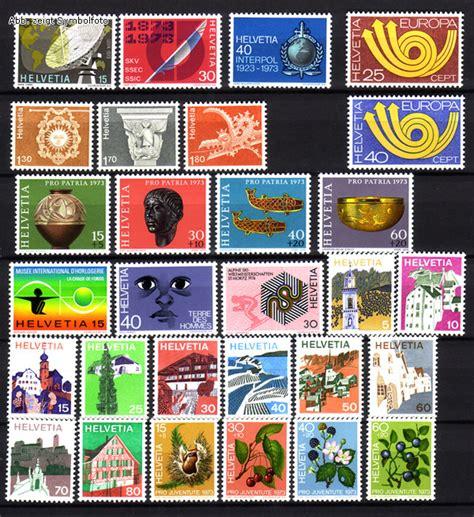 Brief Schweiz Briefmarke Briefmarken Schweiz Jahrgang 1973 Komplett Michel Nr 988 1016 Postfrisch G 252 Nstig Kaufen Im