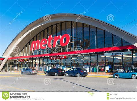 store canada metro grocery store in toronto canada editorial stock