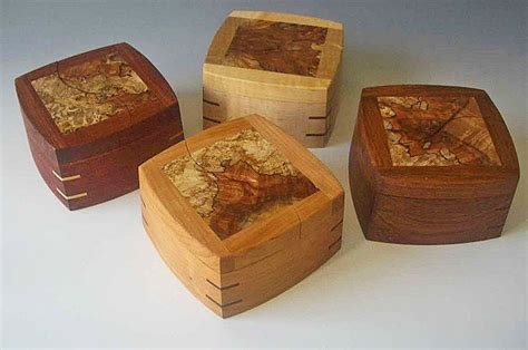 Handmade Woodworking - small wood boxes or decorative keepsake boxes for baby