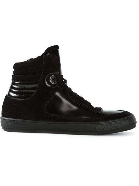 black and gold mens sneakers diesel black gold hi top sneakers in black for