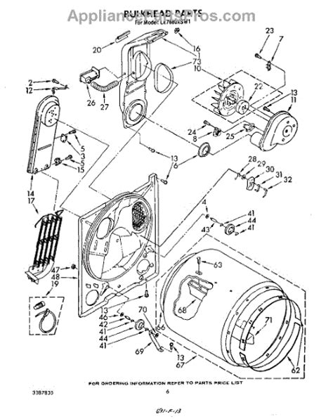 whirlpool dryer parts diagram whirlpool wp4391960 dryer heating element