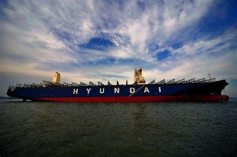hyundai merchant marine europe ltd the hyundai together 13 100 teu is delivered german