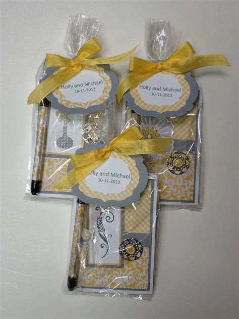 Handmade Bridal Shower Favors - diy 3 quot x 5 quot notepad shower favors bridal shower wedding