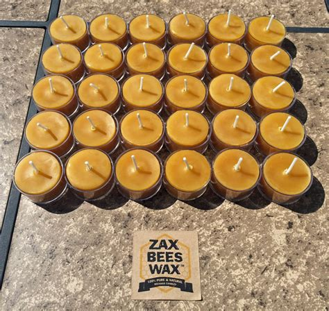 beeswax tea lights bulk 100 pure natural beeswax tea light bulk 30 pack