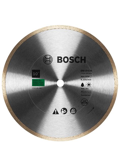 Bosch Standard Ceramic Continuous by Db1043s 10 In Standard Continuous Blade For