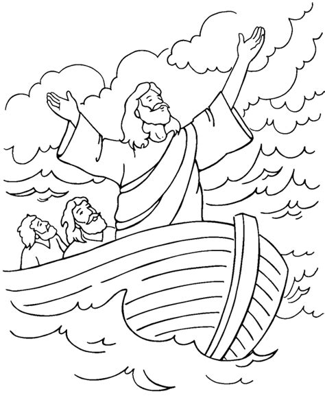 free coloring page jesus calms the storm 161 silencio 161 c 225 lmate coloring page