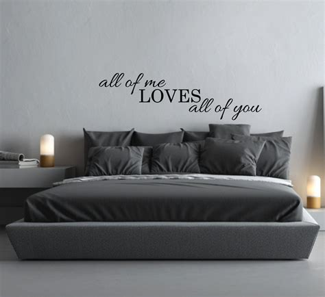 bed wall decal quote    loves