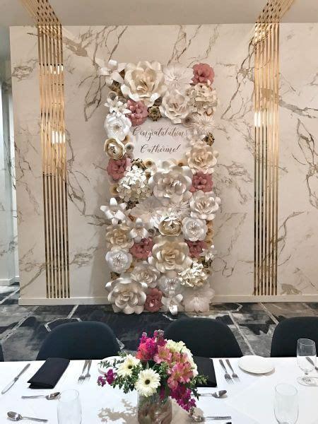 paper flowers paper flower backdrop wedding decor