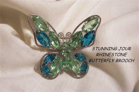 Syari Buterfly Blue breath taking colors jour peridot teal blue color rhinestone from vintageshari on ruby