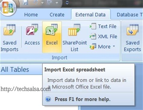 Convert Excel Spreadsheet To Database by Convert Or Import Excel Sheet To Access Database Tech Salsa