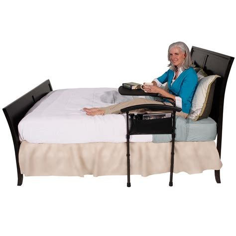 bed steps for elderly independence bed table by stander daily care for seniors