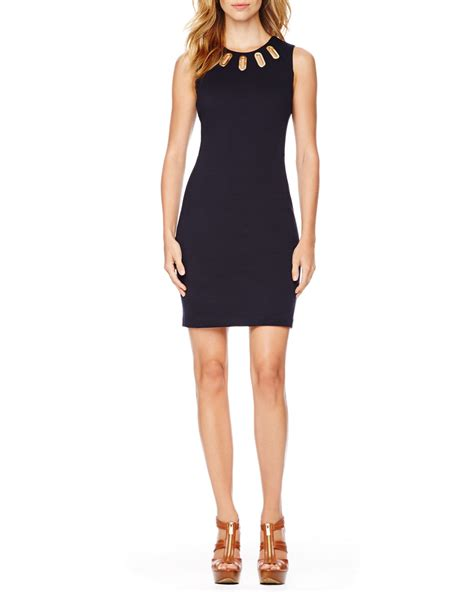 michael kors knit dress michael michael kors ovalgrommet knit dress in black navy
