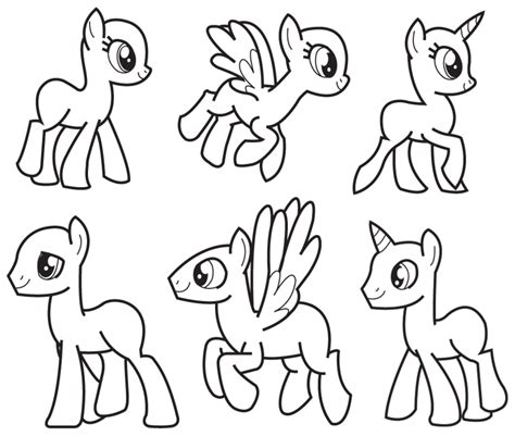 my pony template my template by coptermode deviantart on