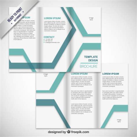 leaflet design free software brochure design with stripes vector free download