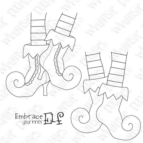 elf shoes coloring pages 17 best images about blank canvas on pinterest coloring