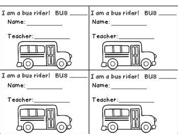 printable bus tags for students help your students remember how they are getting home from