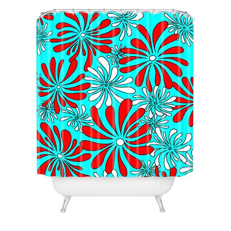 red and aqua curtains abstract shower curtain wayfair tamerin teal shower