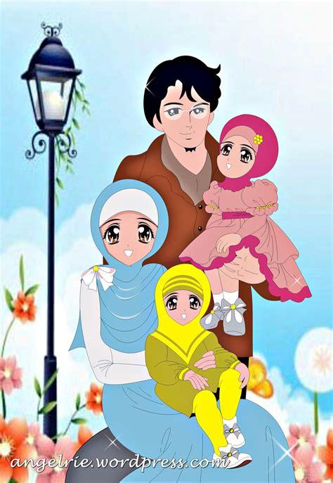 gambar kartun keluarga   anak laki laki keren
