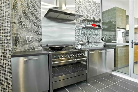 Stainless Steel Backsplash Kitchen by Modern Ikea Stainless Steel Backsplash Homesfeed