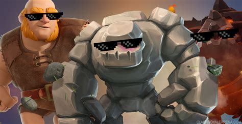 how to a big how to deal with big pushes golem lava hound clash royale