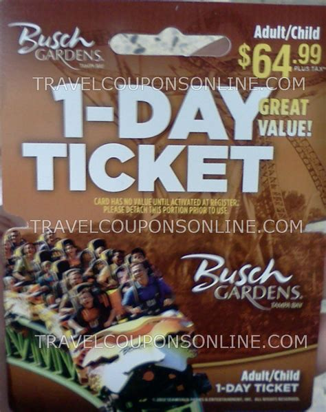 Busch Gardens Ta Promo Code by Busch Gardens Coupon 2017 2018 Best Cars Reviews